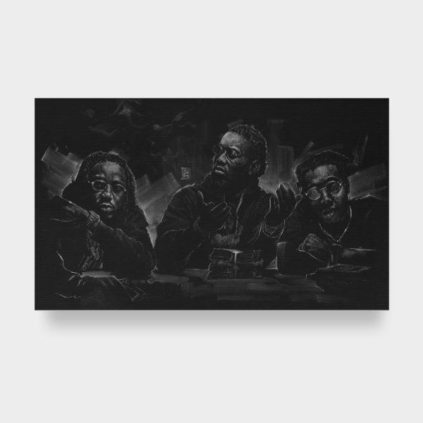 Migos - Fine Art Print (Gliceé) brand new 2019 #AllBlackSeries calendar.