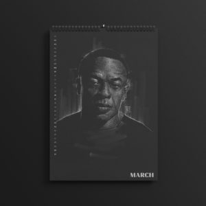 Dr. Dre in the brand new 2019 #AllBlackSeries calendar.