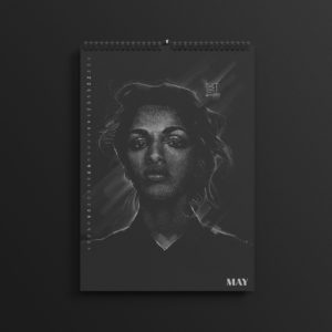 M.I.A. aka Maya Matangi in the brand new 2019 #AllBlackSeries calendar.