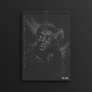 Bill Withers in the brand new 2019 #AllBlackSeries calendar.