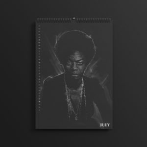 Nina Simone in the brand new 2019 #AllBlackSeries calendar.