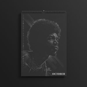 Gil-Scott Heron in the brand new 2019 #AllBlackSeries calendar.