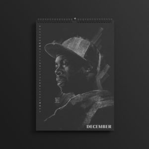 J Dilla aka Jay Dee in the brand new 2019 #AllBlackSeries calendar.