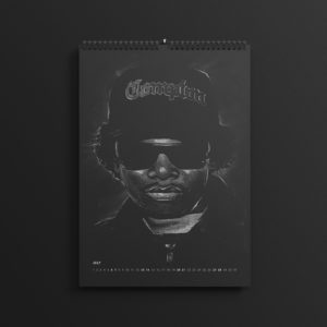Eazy E of NWA in last year's #AllBlackSeries calendar, updated for 2019.