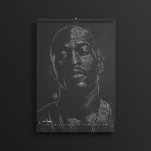 Rakim Allah of Eric B and Rakim in last year's #AllBlackSeries calendar, updated for 2019.