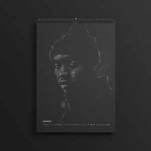 Nas in last year's #AllBlackSeries calendar, updated for 2019.
