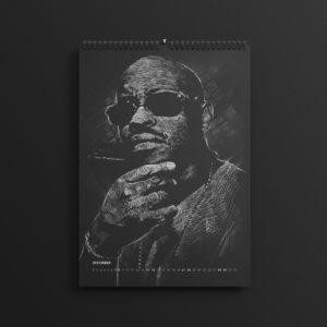 Guru of Gangstarr in last year's #AllBlackSeries calendar, updated for 2019.